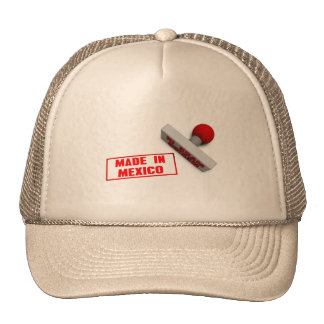 Made in Mexico Stamp or Chop on Paper Concept Cap