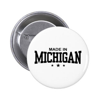 Made In Michigan 6 Cm Round Badge