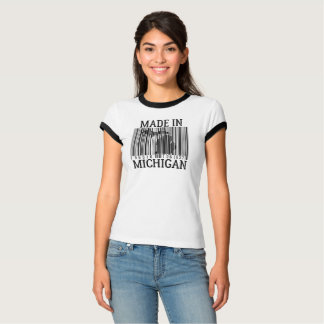 Made In Michigan Barcode Ring Tee