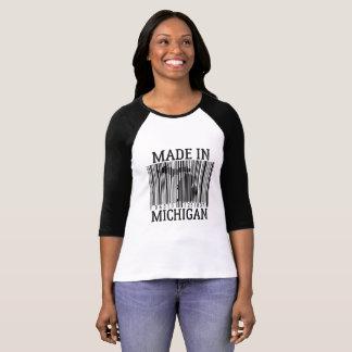 Made In Michigan Barcode Womens Raglan Tee