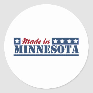 Made In Minnesota Classic Round Sticker
