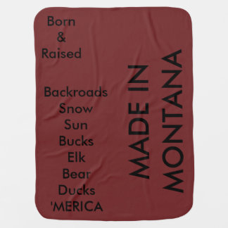 MADE IN MONTANA (or your state) BLANKET