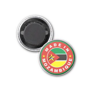 made in mozambique country flag product label magnet