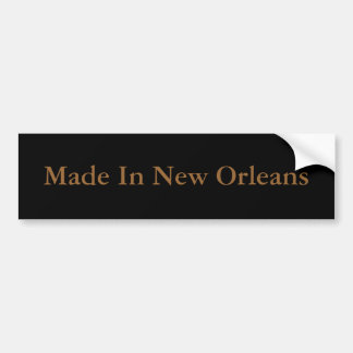 """Made In New Orleans"" Bumper Sticker"