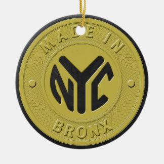 Made In New York Bronx Round Ceramic Decoration