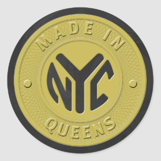 Made In New York Queens Classic Round Sticker