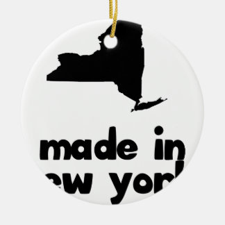 Made in New York Round Ceramic Decoration