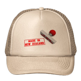 Made in New Zealand Stamp or Chop on Paper Concept Cap