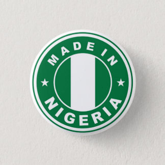 made in nigeria country flag product label round 3 cm round badge