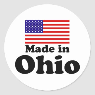 Made in Ohio Classic Round Sticker