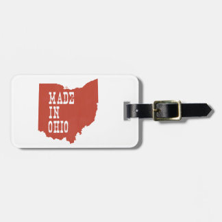Made In Ohio Luggage Tag