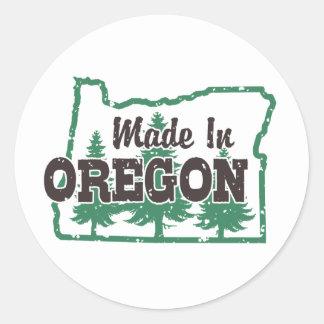 Made In Oregon Classic Round Sticker