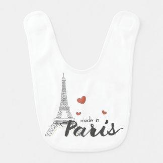Made in Paris With Eiffel Tower Bib