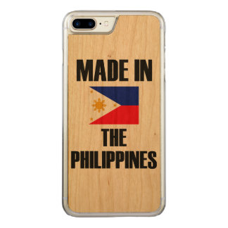 Made In Philippines Flag Carved iPhone 8 Plus/7 Plus Case