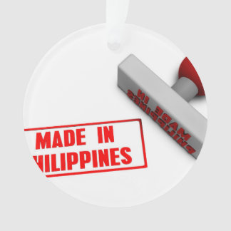 Made in Philippines Stamp or Chop on Paper Concept