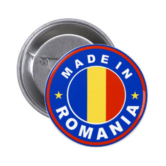 made in romania flag product label 6 cm round badge