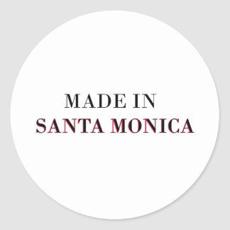 Made In Santa Monica Round Sticker