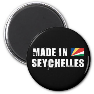 Made in Seychelles 6 Cm Round Magnet