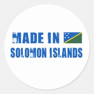 Made in Solomon Islands Round Sticker