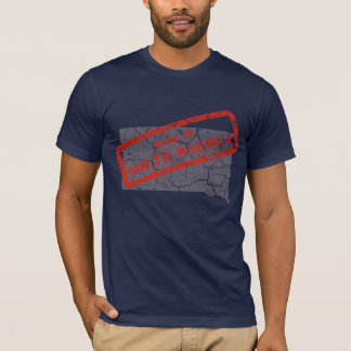 Made in South Dakota Grunge Mens Navy Blue T-shirt