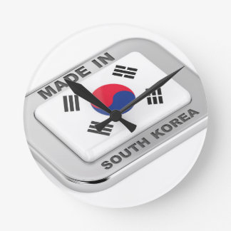 Made in South Korea Round Clock