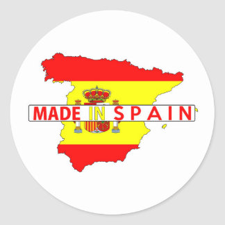 made in spain country map shape flag product label
