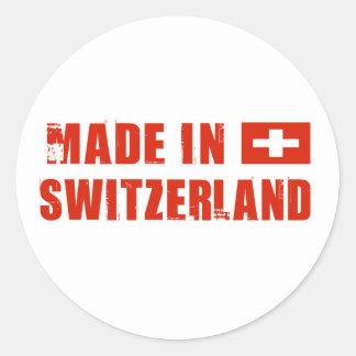 Made in Switzerland Classic Round Sticker