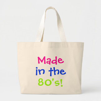 Made in the 80's! large tote bag