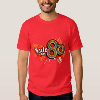 """""""Made in the 80's"""" mens multi-colour logo t red Tee Shirts"""