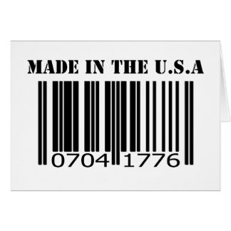 Made in the U.S.A barcode Card