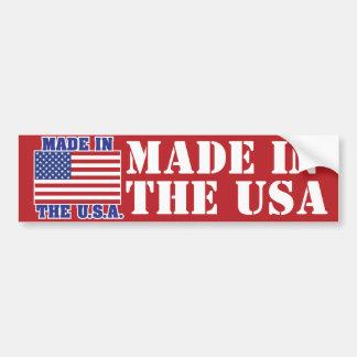 Made in the U.S.A. Bumper Sticker