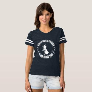 Made In The UK Est 1964 Women's Football T-shirt