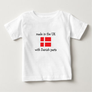 made in the UK with Danish parts Baby T-Shirt