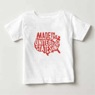 Made in the United States of America Typography Baby T-Shirt