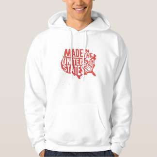 Made in the United States of America Typography Hoodie