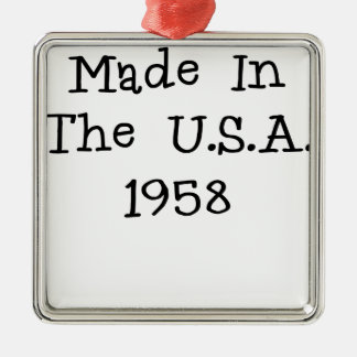 Made in the usa 1958.png Silver-Colored square decoration