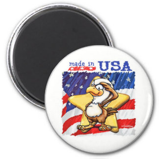 Made in the USA 6 Cm Round Magnet