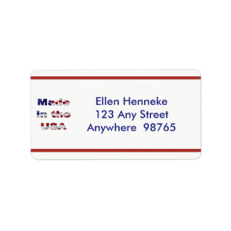 Made in the USA Address Label
