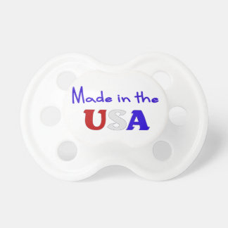 Made in the USA Patriotic Baby Pacifier