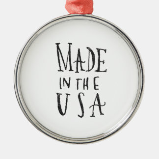 Made in the USA Silver-Colored Round Decoration