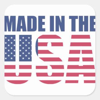 Made In The USA Square Sticker