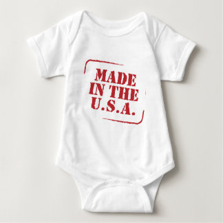 Made In the USA Text Logo Baby Bodysuit