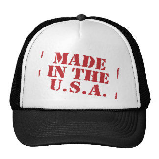 Made In the USA Text Logo Mesh Hat