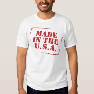Made In the USA Text Logo Tshirts