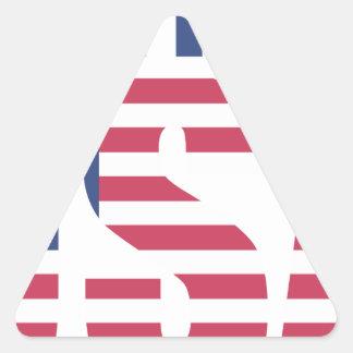 Made In The USA Triangle Sticker