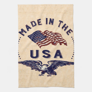 Made in the USA Vintage Eagle and Flag Towels