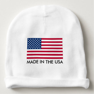 Made in the USA with Flag Baby Beanie