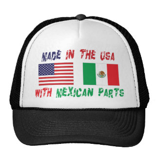 Made In The USA With Mexican Parts Woman's Mesh Hat