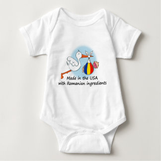 Made in the USA with Romanian Ingredients Baby Bodysuit
