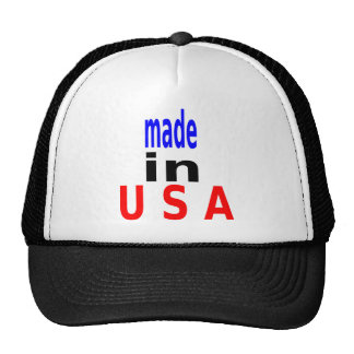 made in u s a cap